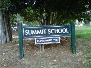 Summit School sign