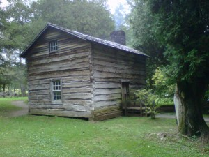 old fashioned cabin, Blue Ridge Parkway