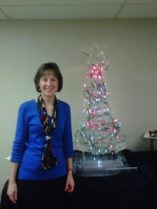 Cindy with Ice Sculpture
