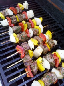 These beef tenderloin and veggie skewers will please anyone!