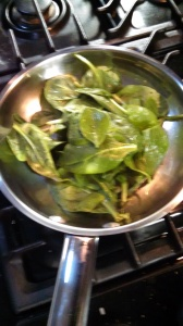 Spinach in pan