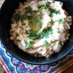 Hummus in bowl