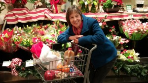 Cindy & Holiday Grocery cart