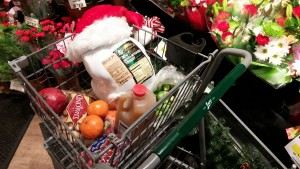 Holiday grocery basket