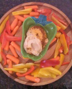 Med hummus veg platter