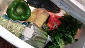 Veg crisper drawer