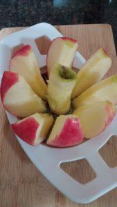 Sliced Pink Lady apple