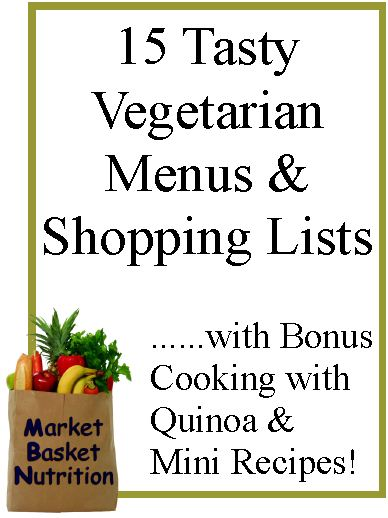 Tasty Vegetarian Menu & Shopping Lists