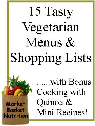 Tasty Vegetarian Menu & Shopping Lists